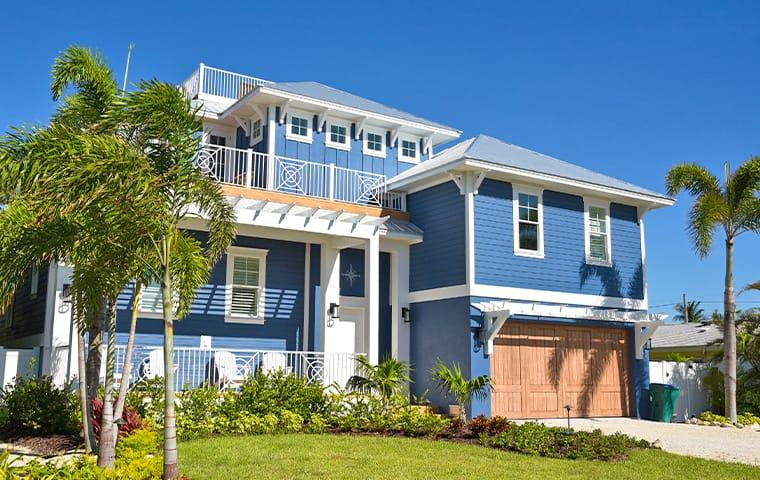 street view of a beach house in pompano beach florida