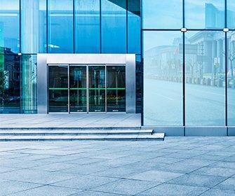 door of commercial building