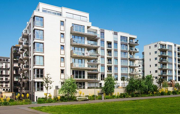a large apartment complex building