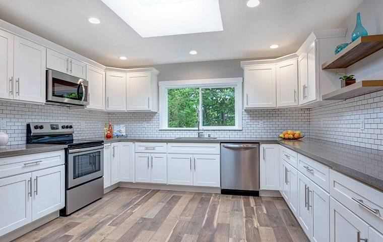 a clean kitchen in a house