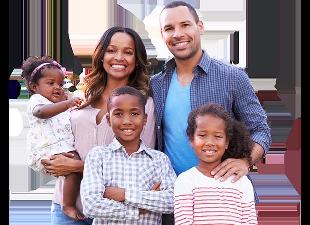 a happy family of five in port huron michigan