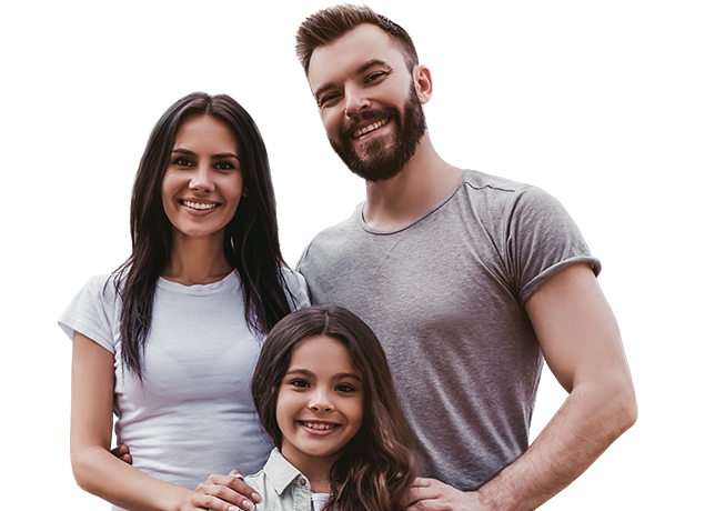a happy family of three in port huron michigan