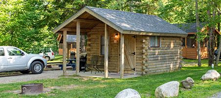 vacation cabin at smuggler's den campground in southwest harbor