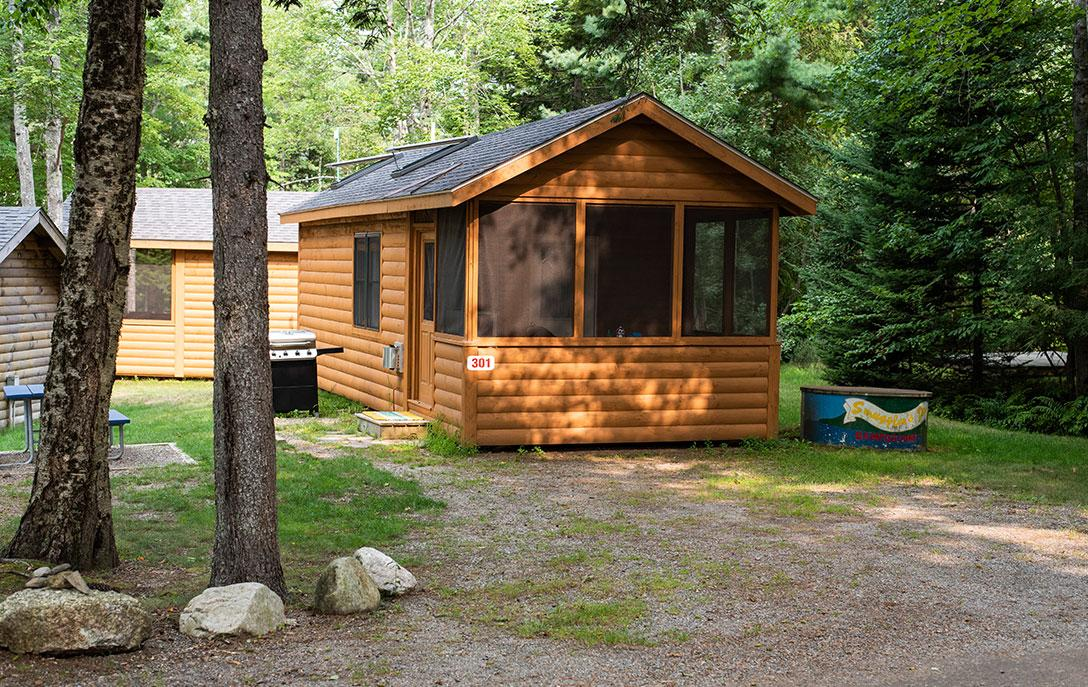 deluxe cabin rental near acadia national park