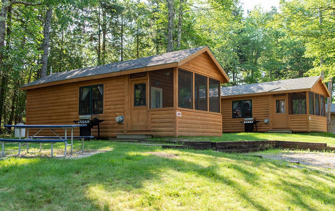 cabin 308 at smuggler's den campground