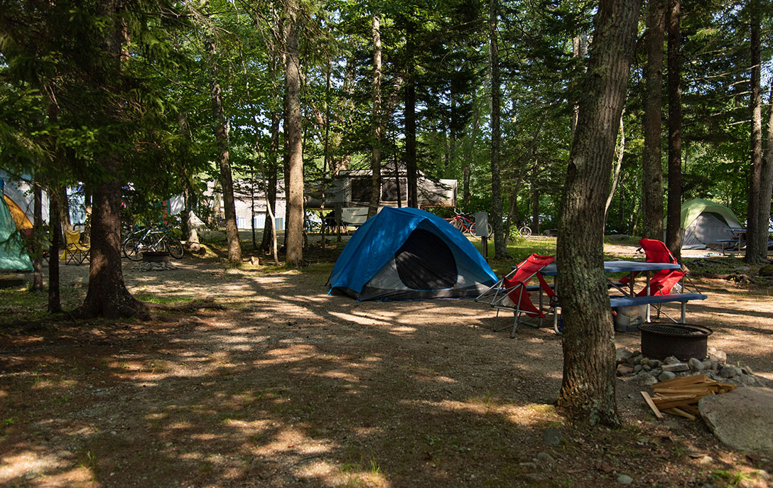 tent site at smuggler's den campground