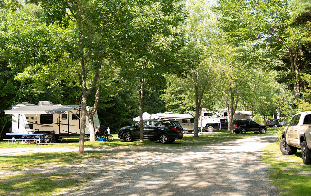 rv and trailer camping near acadia