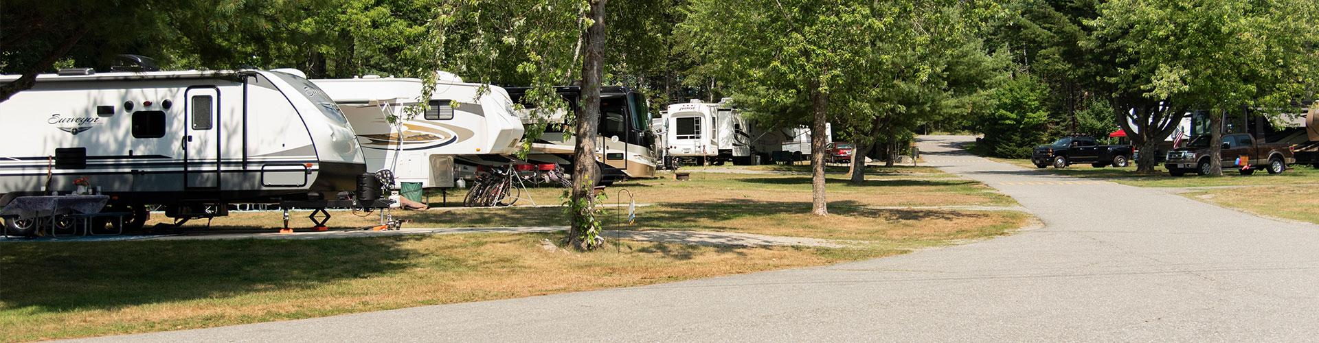 campers at smuggler's den campground