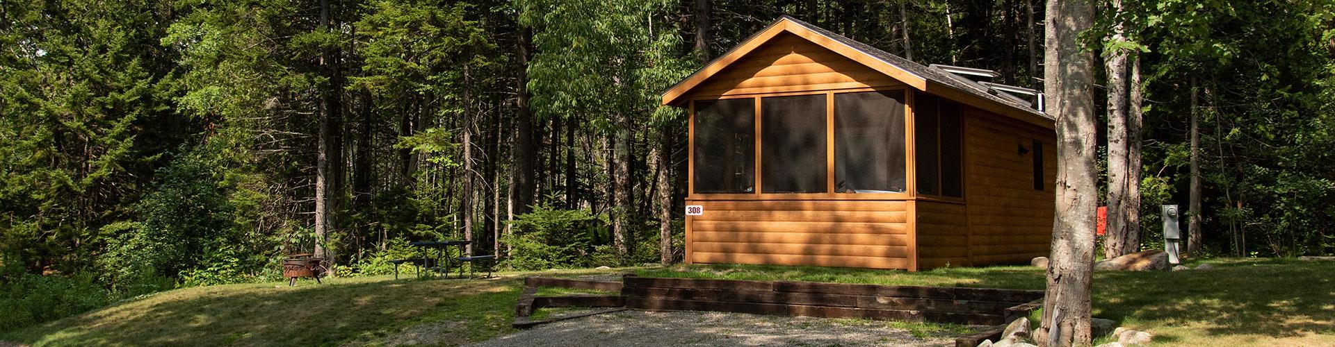 rental cabin mount desert island