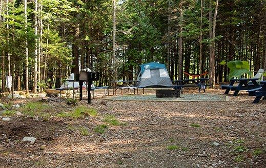group camping sites at smuggler's den campground