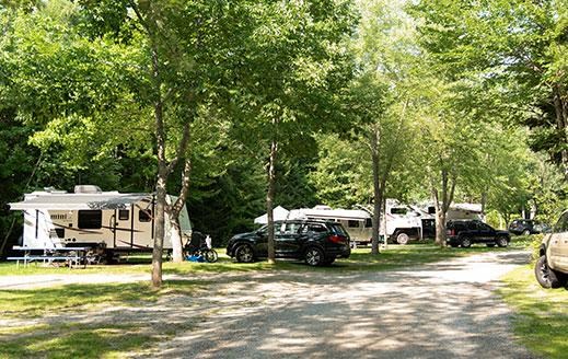 shady rv campsites near acadia national park
