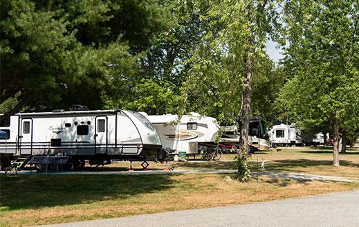 sunny campsites for rvs at smuggler's den