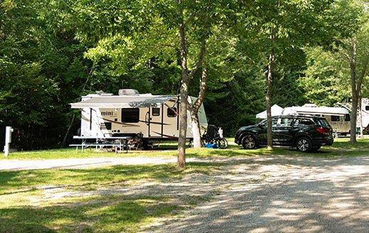 rv campsite at smuggler's den campground
