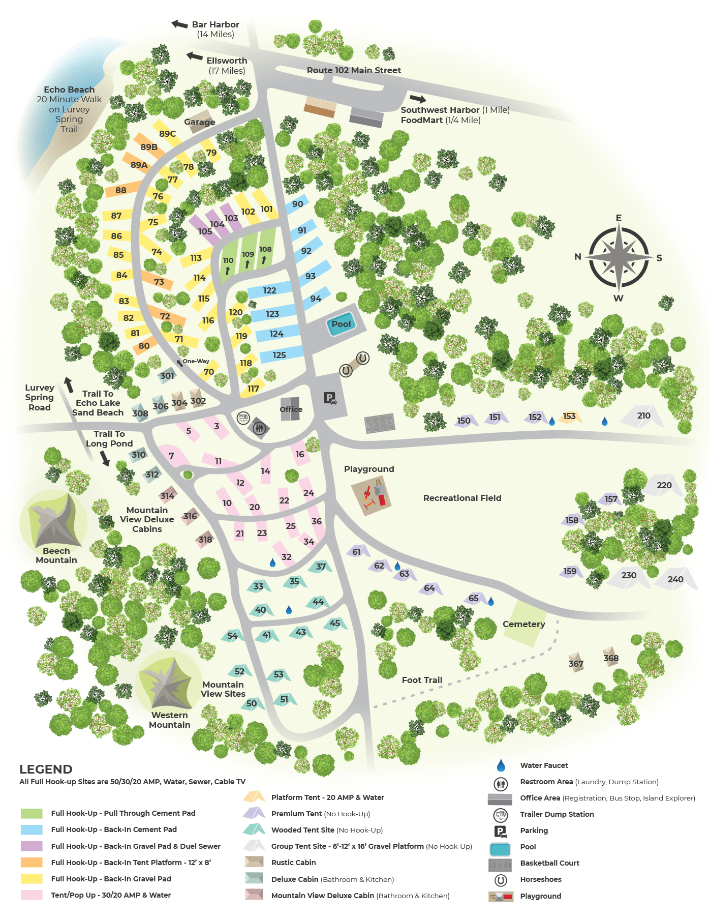 smugglers den campground map