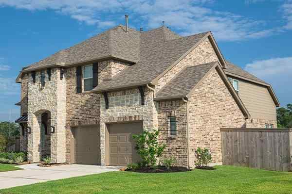 a large suburban home in texas