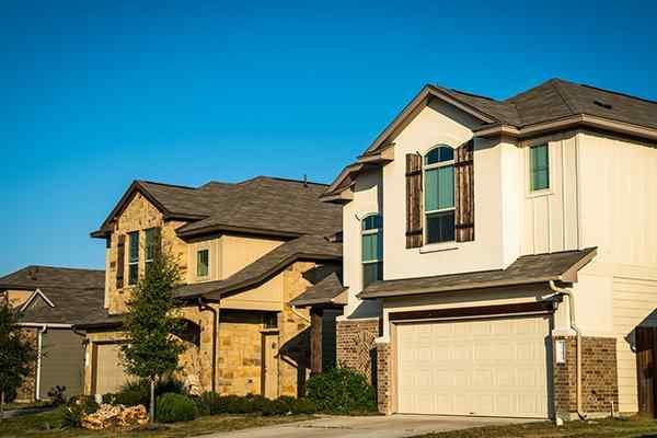houses side by side in fulshear texas