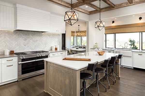 the kitchen in a home in highland village texas
