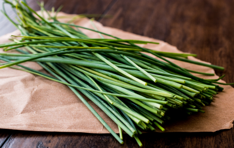 Chives can help keep bugs away