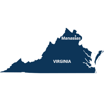 where we service map of virginia featuring manassas
