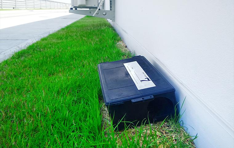 rodent bait station outside a home in Washington DC