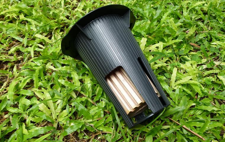 termite bait station on grass in northern virginia