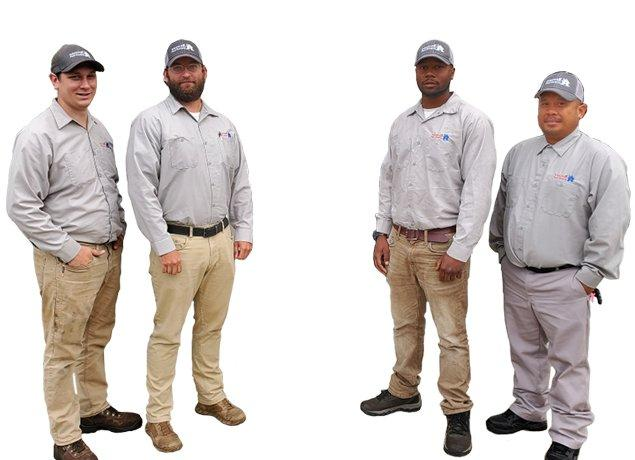 five miche pest control technicians