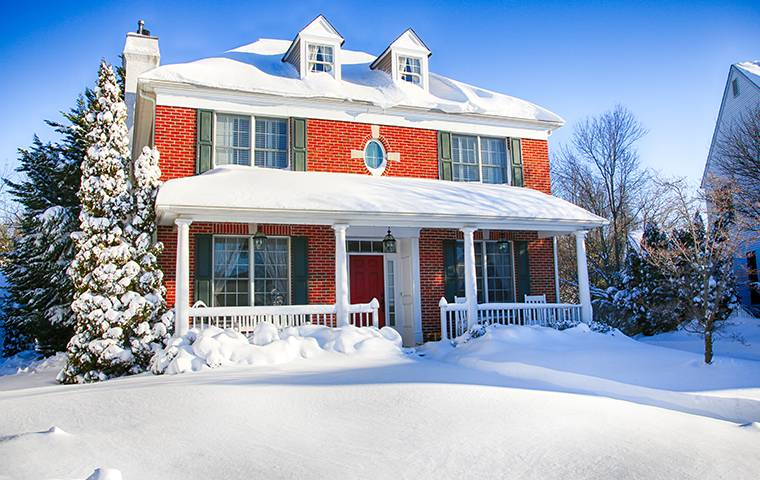 New Jersey House in the Snow
