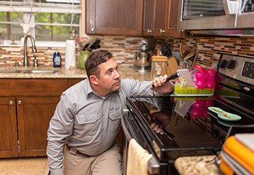 technician inside of home