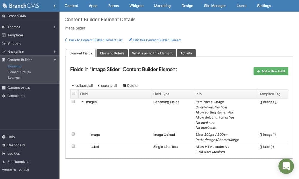 Custom content builder attributes