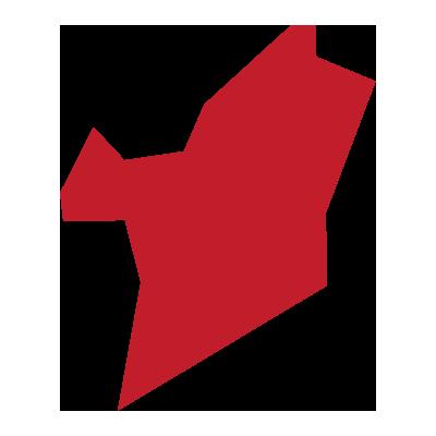 outline of hudson county, nj