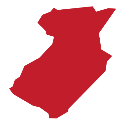 outline of middlesex county, nj