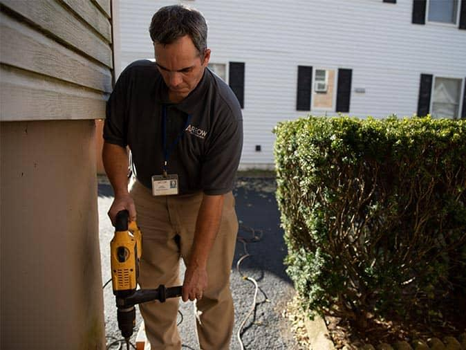 drilling holes in foundation for termite treatment around new jersey home