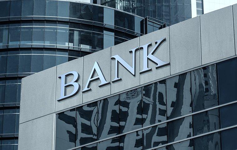 exterior of a bank building