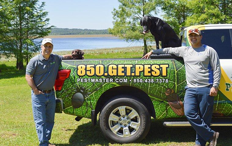pestmaster services tallahassee owner with dogs