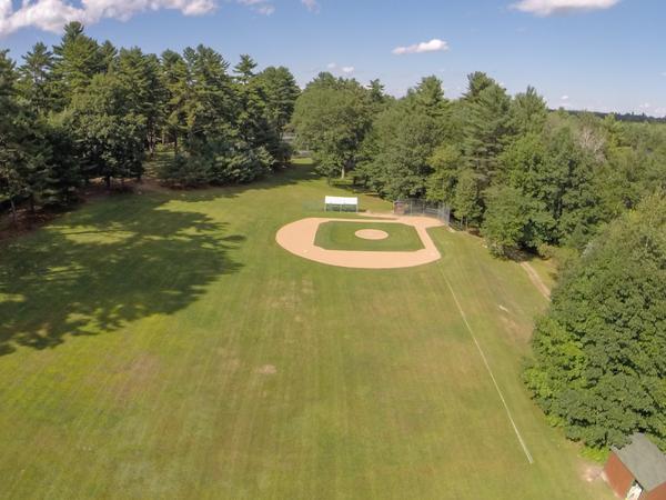 Baseball field - drone