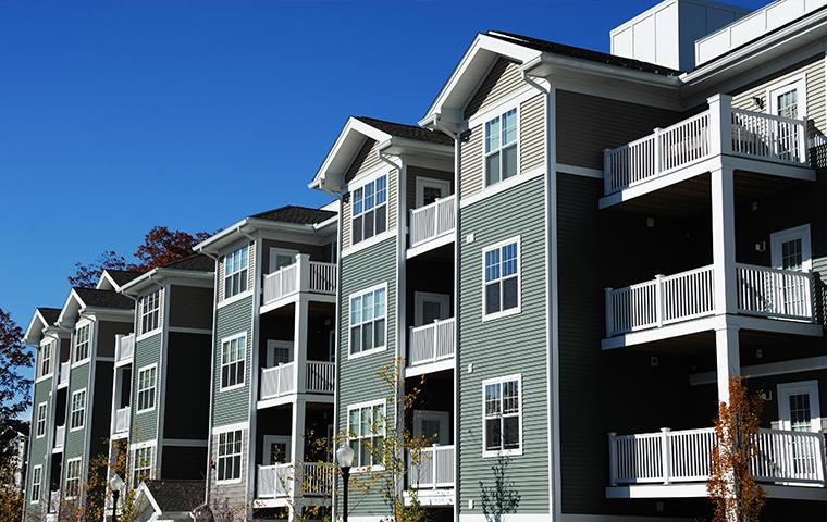 exterior of an apartment complex