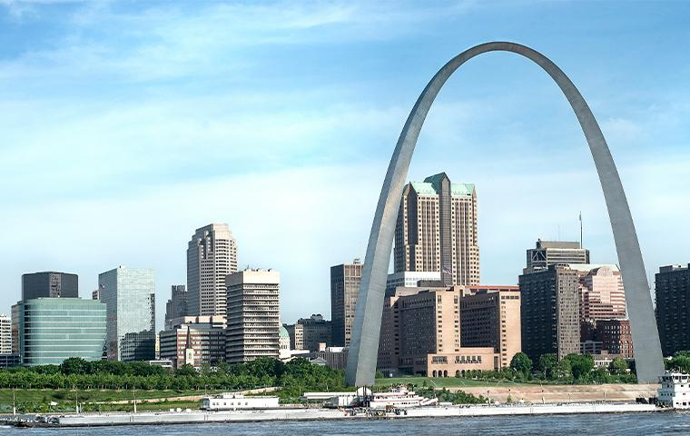skyline view of st louis