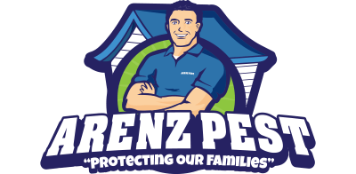 arenz pest management solutions white logo