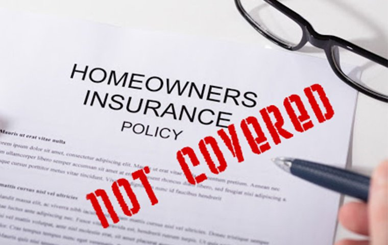 not covered by homeowners insurance