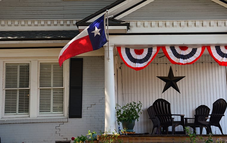a front porch view of a home in mckinney texas