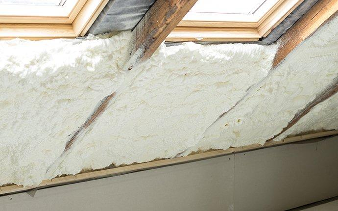 spray foam near windows
