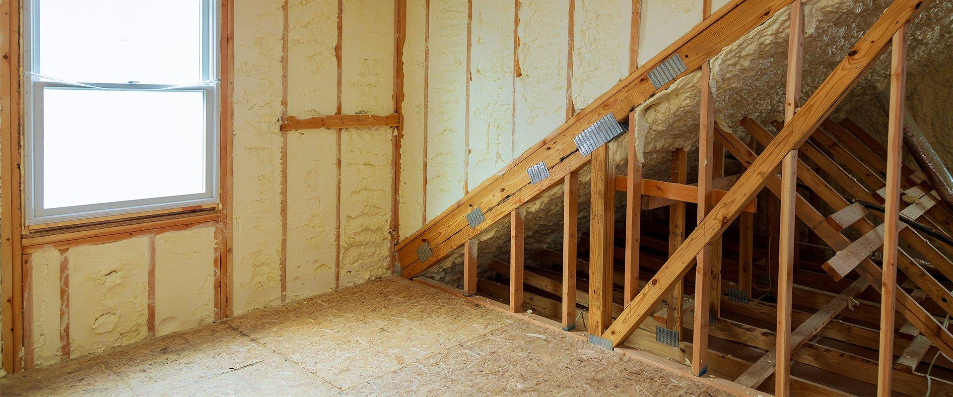 spray foam insulation in a washington state home