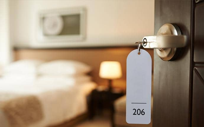 bed bug monitoring in hotel room