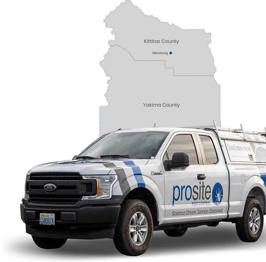 prosite pest control truck and service area map