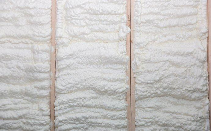spray foam insulation in a newly constructed home