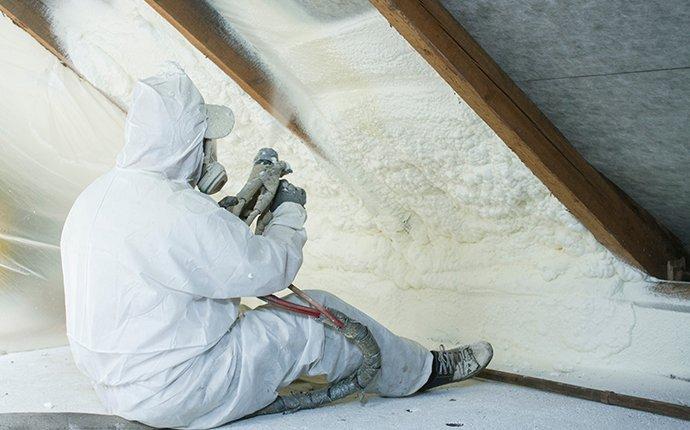 prosite tech applying spray foam insulation