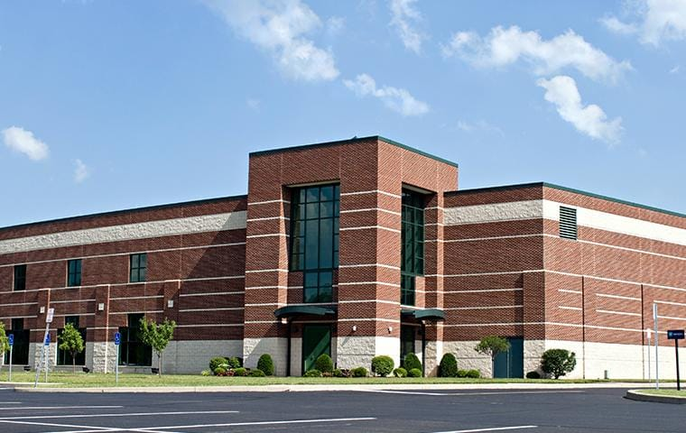 an outside view of an office building in hattiesburg mississippi