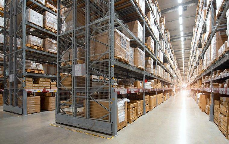 interior view of a commercial warehouse in fairview texas