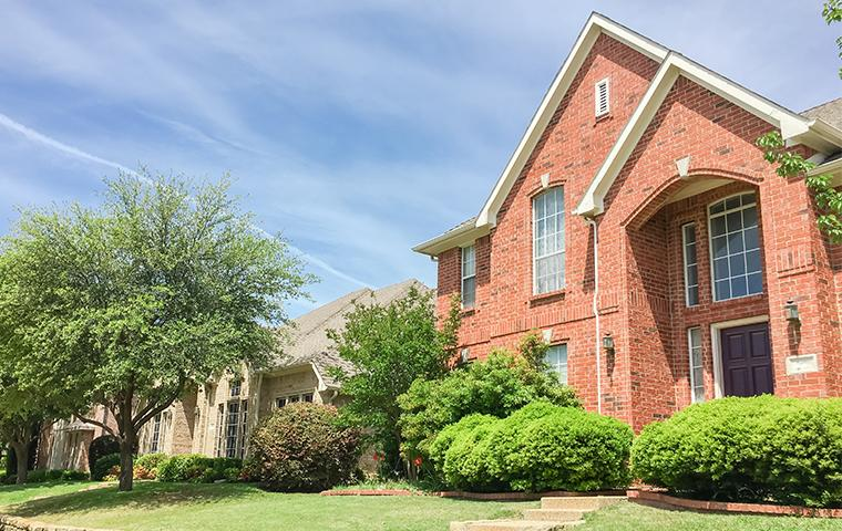 street view of brick home in flower mound texas