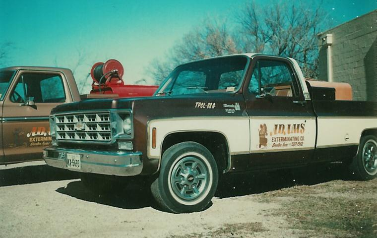 old adams exterminating truck